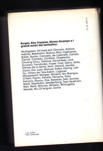IV di copertina - Antologia della Letteratura Fantastica